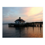 Roanoke Lighthouse at Dusk Postcard