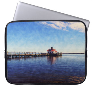 Roanoke Lighthouse on a Beautiful Day Laptop Sleeve