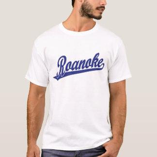 Roanoke script logo in blue T-Shirt