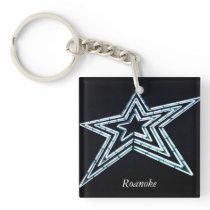 Roanoke Star Keychain