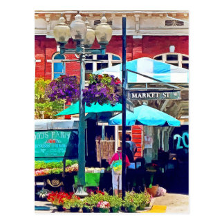 Roanoke Va - Market Street Postcard