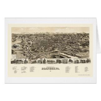 Roanoke, VA Panoramic Map - 1891 Cards