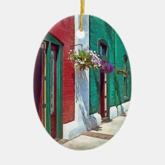 Roanoke VA - Puertas y cestas colgantes Adorno Ovalado De Cerámica