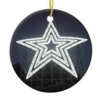 Roanoke Virginia Star Ceramic Ornament