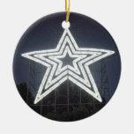 Roanoke Virginia Star Double-Sided Ceramic Round Christmas Ornament