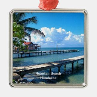 Roantan Beach, Honduras Metal Ornament
