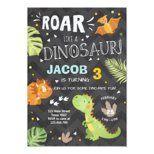60 off dinosaur birthday invitations shop now to save zazzle roar dinosaur birthday invitation dino party boy filmwisefo