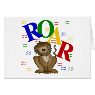 Roar Lion T-shirts and Gifts Greeting Card