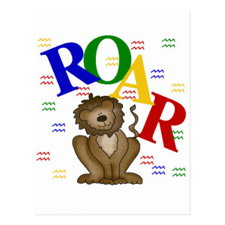 Roar Lion T-shirts and Gifts Postcard