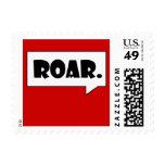 """""""Roar."""" postage stamp"""