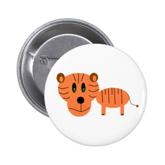 Roar the Tiger Pinback Buttons
