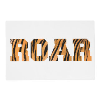 ROAR Tiger Print Text Design Placemat
