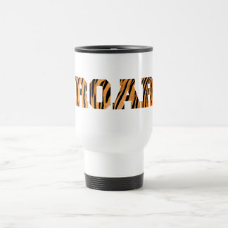 ROAR Tiger Print Text Design Travel Mug
