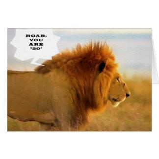 ROAR U R 50 / ROAR GLAD IT IS U / NOT ME CARD