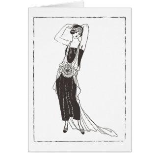 Roaring 1920's Flapper Woman Card