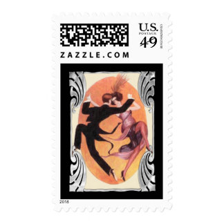Roaring 20 s Dancing Couple Postage Stamp