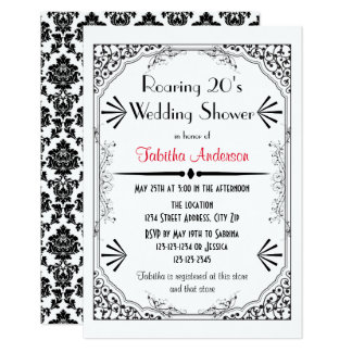 Roaring 20s - 3x5 Wedding Shower Invitation