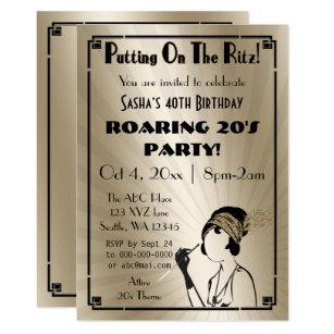 Roaring 20s Invitations Announcements Zazzle