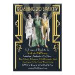 Roaring 20's Art Deco Flapper Party Invitation