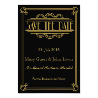 Roaring 20's Art Deco Gatsby  Save The Date Card