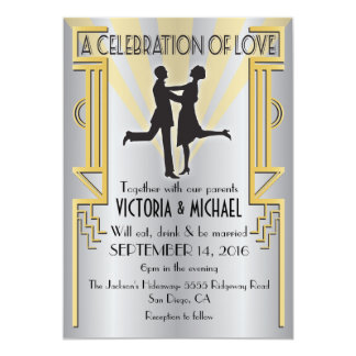 Roaring 20's Art Deco Wedding Invitation