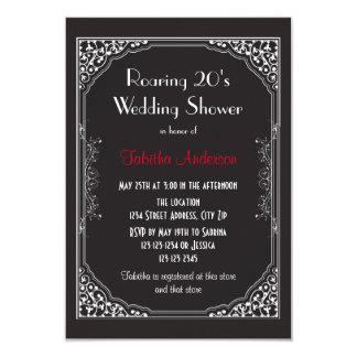 Roaring 20s Black - 3x5 Wedding Shower Invitation