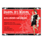 Roaring 20's Flapper Costume Wedding Invitations