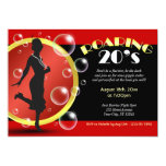 "Roaring 20's Flapper Girl Giggle Water Invitations 5"" X 7"" Invitation Card"