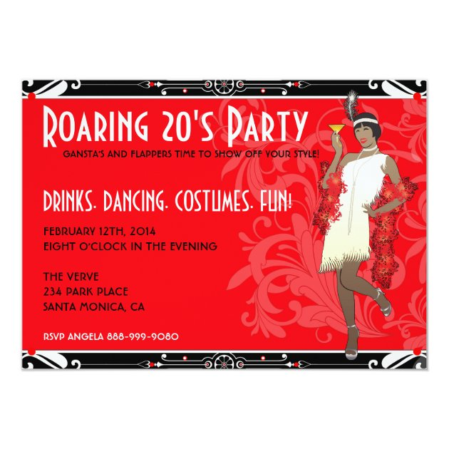 Personalized Roaring 20s Invitations CustomInvitations4Ucom