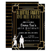 Roaring 20's Flapper Party Birthday Invitation