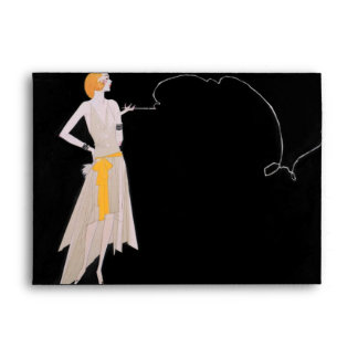 Roaring 20's - Flapper Party Invitation Envelope