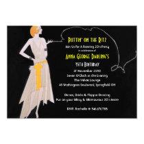 "Roaring 20's - Flapper Party Invitations 5"" X 7"" Invitation Card"