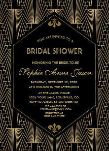 Art deco bridal shower invitations zazzle roaring 20s great gatsby art deco bridal shower invitation filmwisefo