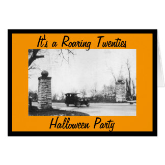 Roaring 20's Halloween Costume Party Greeting Card