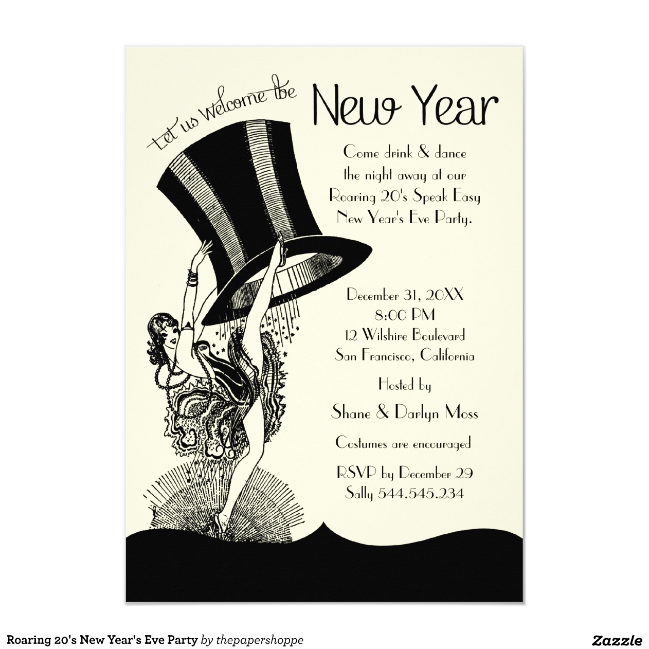 New Years Eve Invitations de mariage