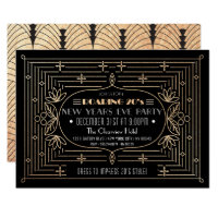 Roaring 20's New years party invitation