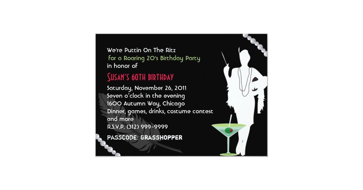 Roaring 20s Party Invitation Zazzle Com
