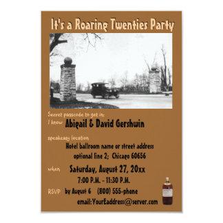 Roaring 20's Prohibition Theme 3.5x5 Paper Invitation Card