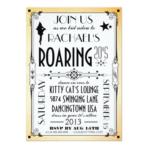 The Great Gatsby Party Invitation were Amazing Ideas To Make Awesome Invitations Design