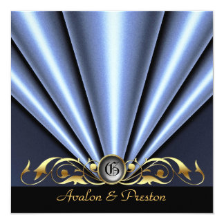 Roaring 20's Silver Art Deco Bridal Shower Card