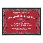 Roaring 20s Twenties Trumpet Red Wedding Card