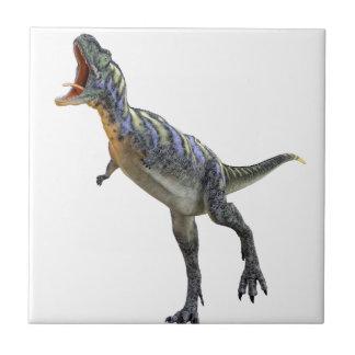 Roaring Aucasaurus Dinosaur Ceramic Tile