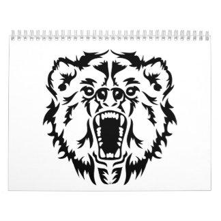 Roaring bear calendar