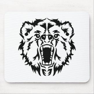 Roaring bear mouse pad