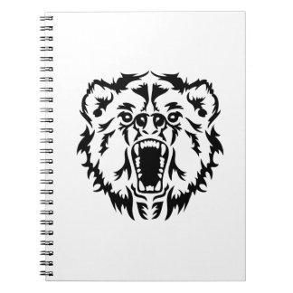 Roaring bear spiral note book