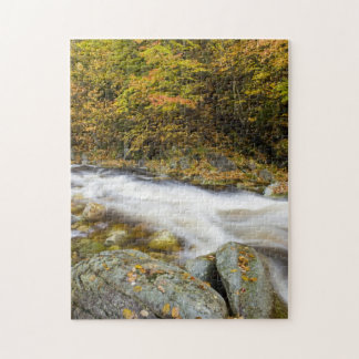 Roaring Brook in fall in Vermont's Green Jigsaw Puzzle