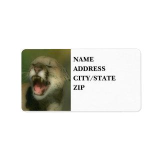 'Roaring Cougar' Label