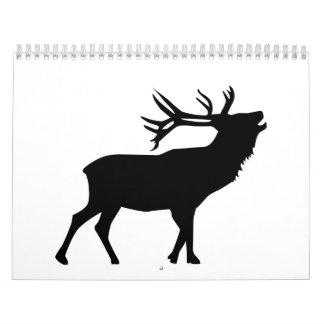 Roaring deer calendar