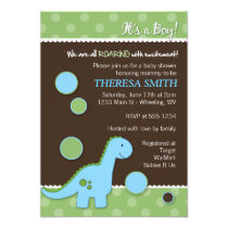 """Roaring Dinosaur Baby Shower Invitations 5"""" X 7"""" Invitation Card"""