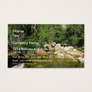 Roaring Falls Rivers Streams Mountains Business Card